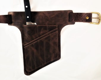 Brown Chef Knives Belt - Gift Trends - Chefs knives Roll - Leather Apron - Chef Leather Bag - Knives Leather Bag - Gift For Chef - tool belt