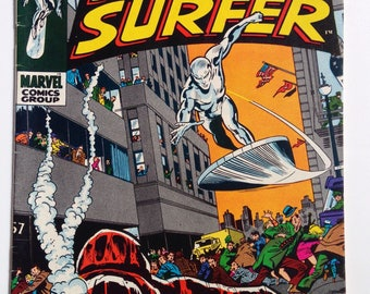 """Silver Surfer #13, February 1970, """"Dawn of the Doomsday Man!"""""""