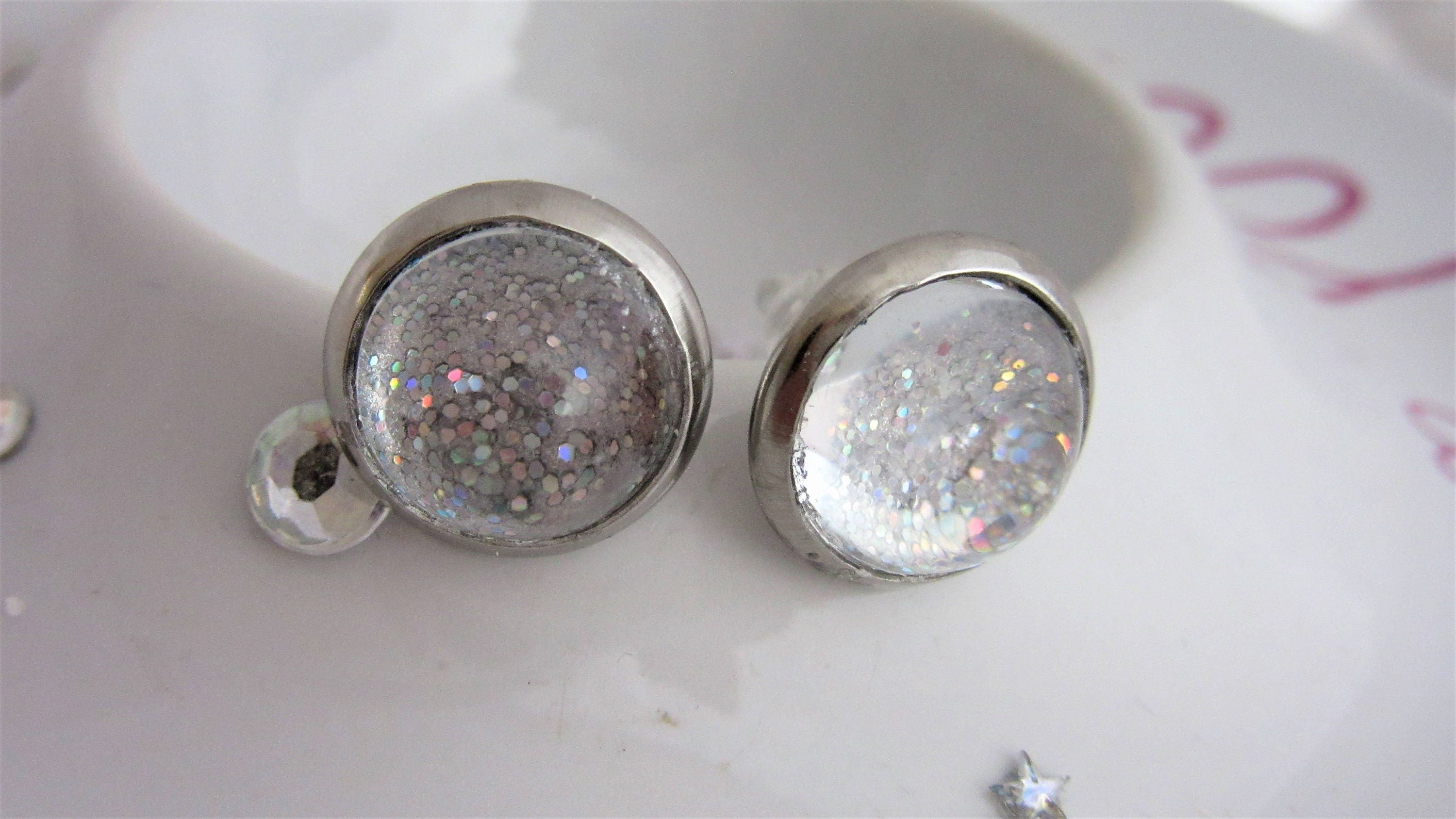 stud product faux druzy original earrings post style sparkly