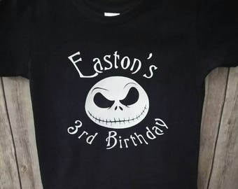 Jack Skellington Birthday Shirt -  jack skellington birthday NBC - Nightmare Before Christmas - Jack birthday Jack Shirt