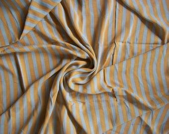 4 Yards Striped Lightweight Rayon Fabric