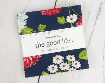 The Good Life Charm Pack - Moda Fabric -Bonnie & Camille Fabric - Good Life Fabric - Moda Charm Pack - 42 pieces