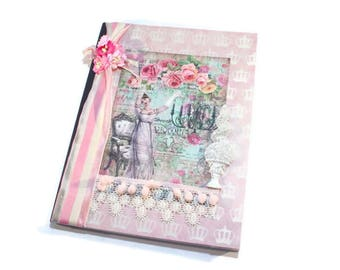 Journal, Lined, Writing, Personal Diary, Notebook, Dream Journal, Travel Journal, Prayer, Cottage Chic, Shabby Vintage, Meditation, Exercise