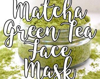 Matcha Face Mask; Green Tea Face Mask