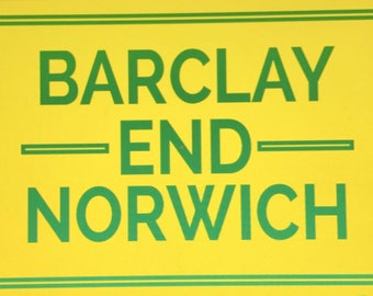 BARCLAY END NORWICH Stickers