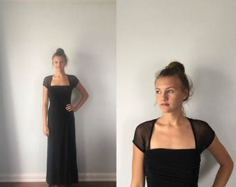 Vintage Black Evening Gown, 1990s Evening Gown, Joseph Ribkoff Couture, Formal Long Dress, Vintage Eening Gown