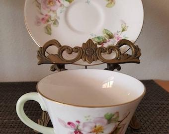 Royal Doulton Bone China English Apple Blossom Cup & Saucer