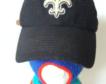 Vtg New Orleans Saints wool Dad hat curved brim hat cap twins 47 brand
