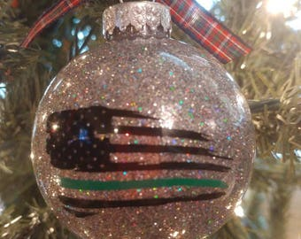 Thin Green Line Federal Agent, Border Patrol, Park Ranger ornament