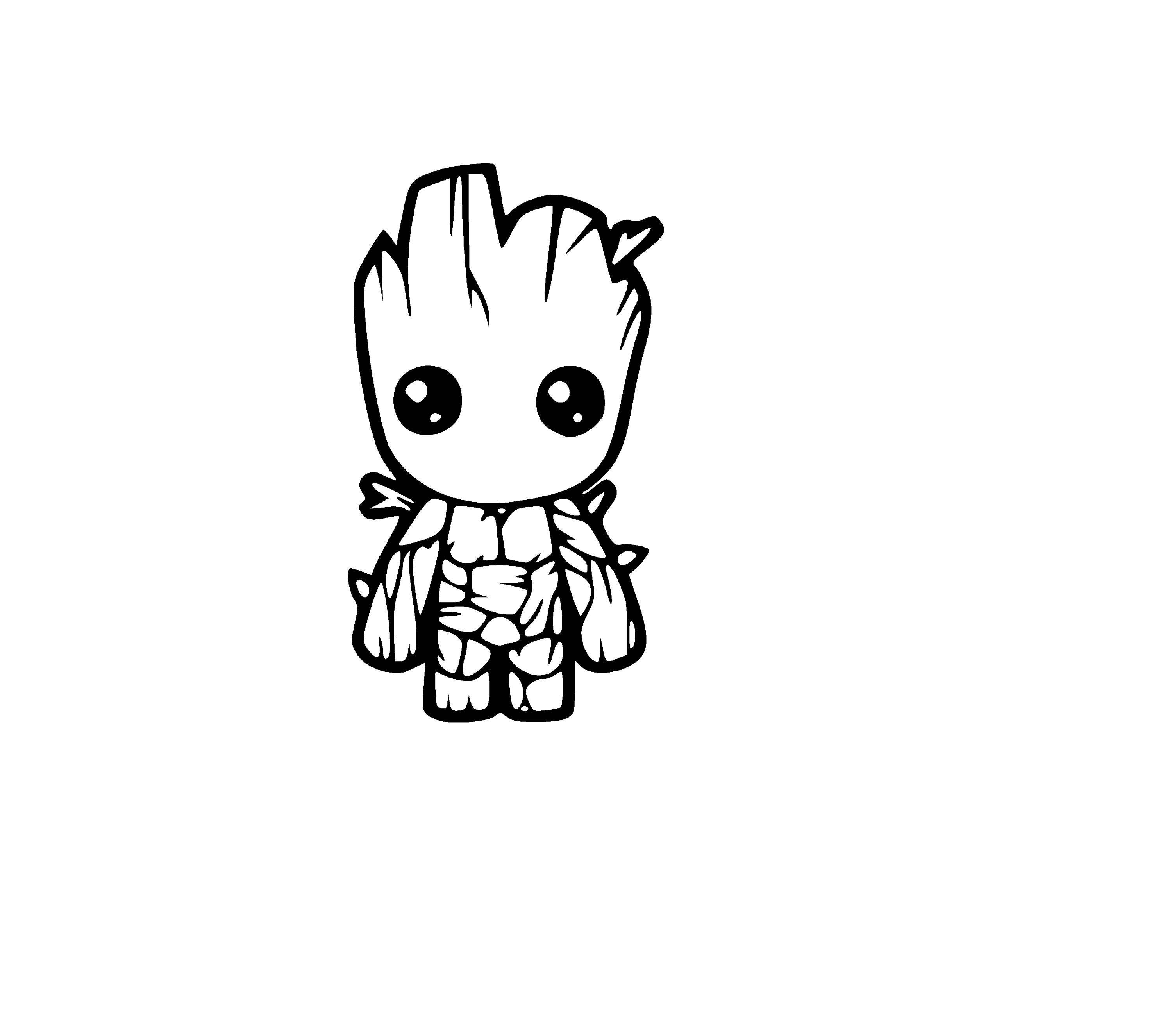 baby groot sticker decal decorative