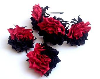 red and black flowers for hair flower wreath rustic gothic wedding gothic fashion black wreath red wreath clips for hair flower headbands