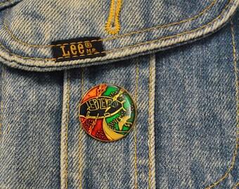 Vintage 1970's Dead-Stock Led Zeppelin Swan Song Enamel Pin    P1