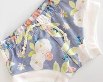 Purple Floral Shorts / Girls Shorts / Baby / Toddler / Macie and Me