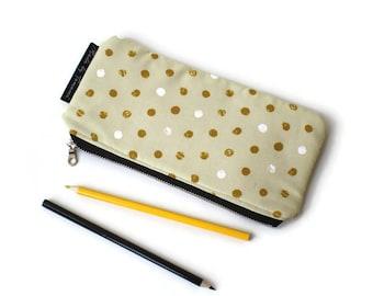 """Pencil Case / Pencil Case / Pencil Pouch / Zipper Pouch / Zipper Pouch / Anything Pouch 9"""" x 4"""" inch"""
