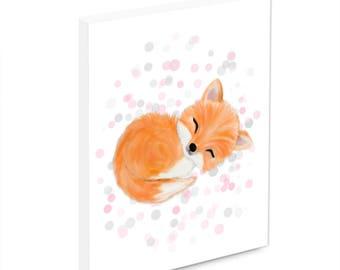 Fox nursery decor, fox nursery, woodland nursery, nursery decor girl, fox nursery art, fox nursery wall art, girl nursery decor