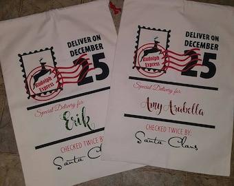 Santa Sacks, Christmas Sacks, Canvas Sack, Present Bag, Christmas Bag