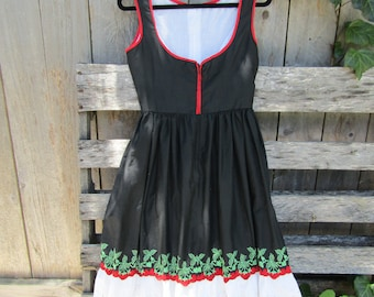 Vintage strawberry and lace dirndl