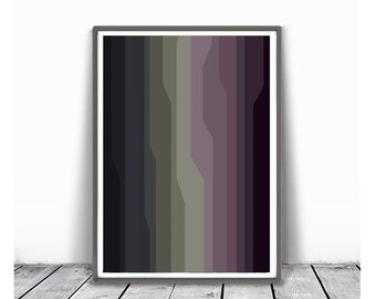 minimalism art, Abstract printable , Large Wall Art , Modern Art, lines abstract, geometric abstract, olive green  and purple, voilet grey