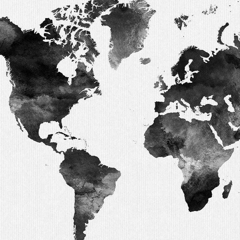 World map poster black white artprintsvicky gumiabroncs Image collections