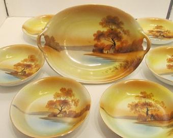 Tree in Meadow Bowl Set - Noritake - Made in Japan