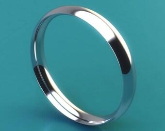 Platinum 950 3mm light  courtshape / wedding ring / wedding band / 3mm ring / 3mm band / 3mm court ring / eternity ring / engagement ring