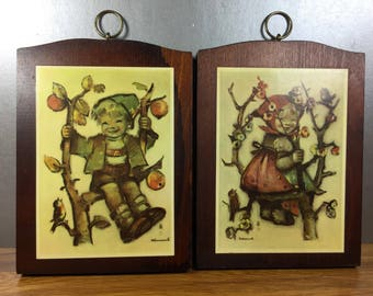 Hummel Prints on Wood- Happy Kids