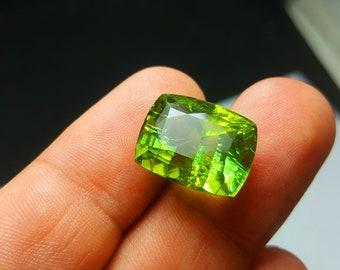 15.50  Carat Green Color Loose Gemstone Tourmaline @ Afghanistan