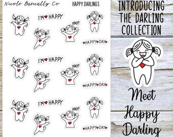 Happy Darlings Planner Stickers