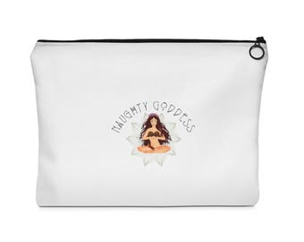 Naughty Goddess Carry All Pouch  Flat