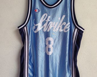 Rare vintage Champion basketball jersey strike 8 L