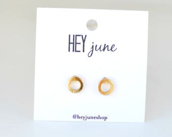 tiny open circle studs, gold open circle earrings,  gold circle stud earrings, tiny open circle earrings, simple circle earrings,