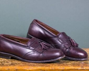 Allen Edmonds Kiltie Tassel Loafers in Burgundy // Size 10.5