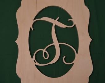 Wooden initial, Door Hanger, Personalized Door Hanger, Painted Wooden Letter, Unpainted Wooden Letter, Wreath, Wooden Wreath, Wall Decor