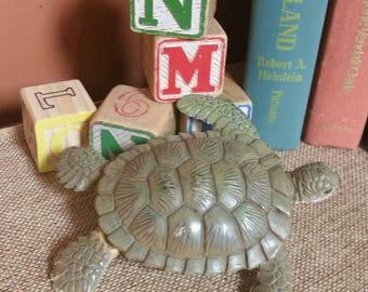 Miniature Sea Turtle/PVC Vinyl Sea Turtle/Realistic Look Miniature Animal/Terranium/Diorama/Upcycle Craft Toy/Collectible Toy/Cake Topper