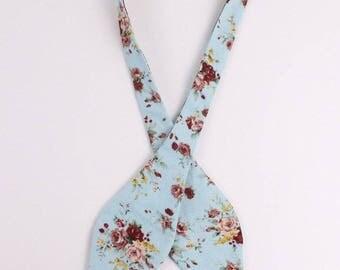 Men's Aqua - Self Tie Bow Tie| Flower | Self Tie | Bow Tie | Bowtie | Floral | Wedding | Groom | Gift | Ideas | for him