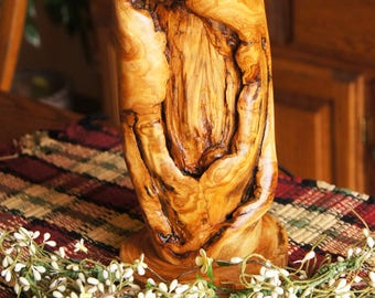 Medium Distressed Aspen Lamp/ Log Lamp/ Rustic Lamp/ Cabin Lamp/ Wood Lamp/Rustic Decor'