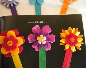 Bookmark Multiflowers in colored wood