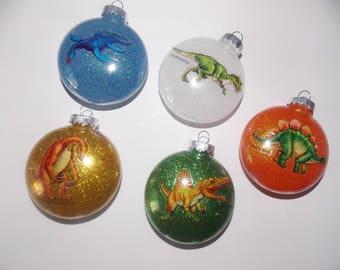 Dinosaur Glitter Ornament