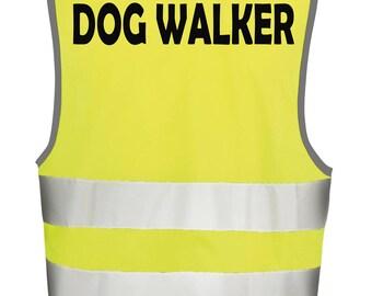 DOG WALKER High Visibilty Vest Safety Tabbard Waistcoast