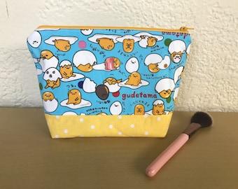 Girls Gudetama Cotton Makeup Bag Cosmetic Zipper Bag Pencil Pouch Knitting Bag gift