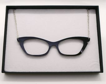 Retro 50's Pinup Glasses Acrylic Necklace