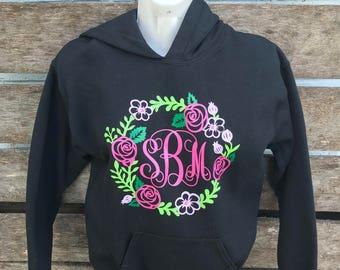 Floral Monogrammed shirt/hoodie