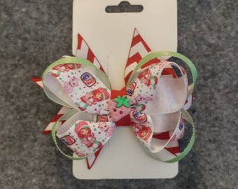 Strawberry shortcake hair bow.