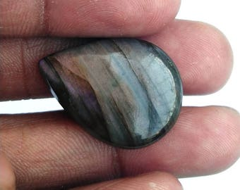 50% Off Christmas Offer Purple Labradorite Gemstone, Cabochon, shape pear, 20.60 ct, 25x18x6mm, AM34