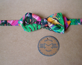 Bow tie adjustable jungle to order