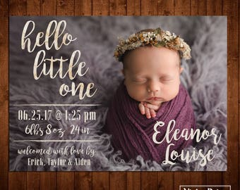 Hello Little One Birth Announcement