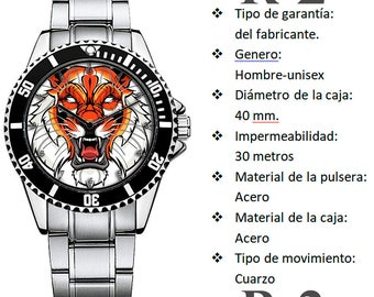 Personalized Tiger Face Watch