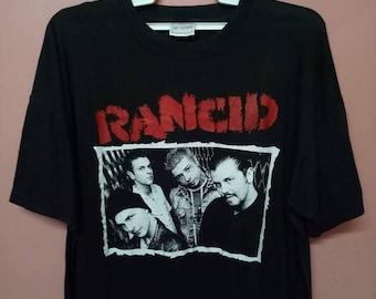 VINTAGE RANCID  American punk rock band street punk rare band tee shirt