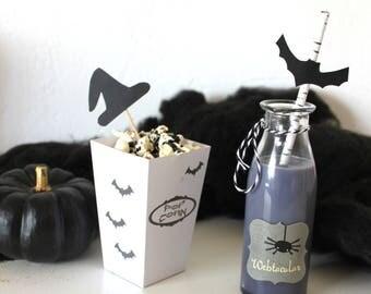 Small box to pop-corn themed Halloween
