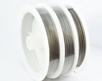 Tiger Wire Flex Wire Silver Roll Wire Stringing Beads Findings Cord Wire Sizes 0.3mm/0.5/0.6/0.8/0.35/0.45/0.38